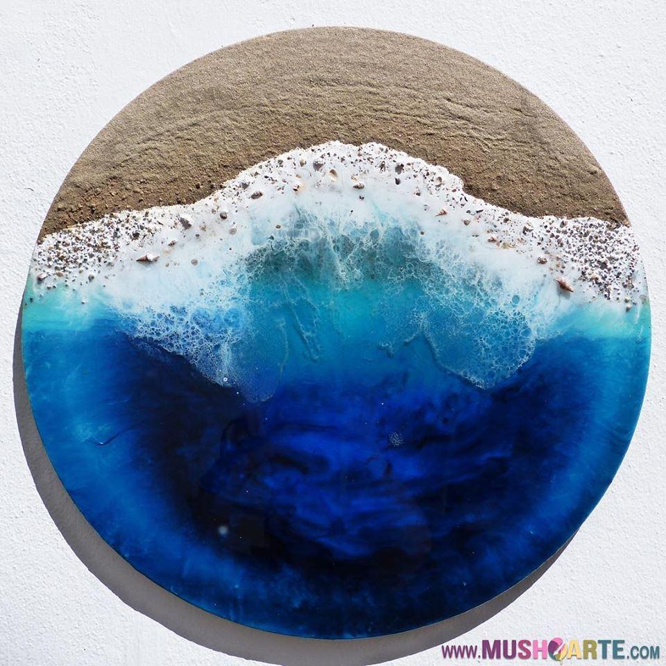 ¿Cómo crear el efecto de las olas del mar en las pinturas de resina epoxi?