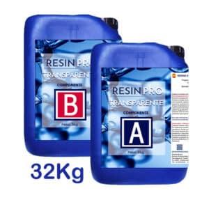 Resina transparente Resin Pro 32kg