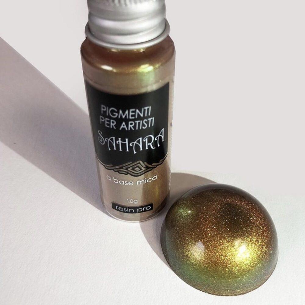 Pigmento Sahara Camaleón de Resin Pro Oro Verde